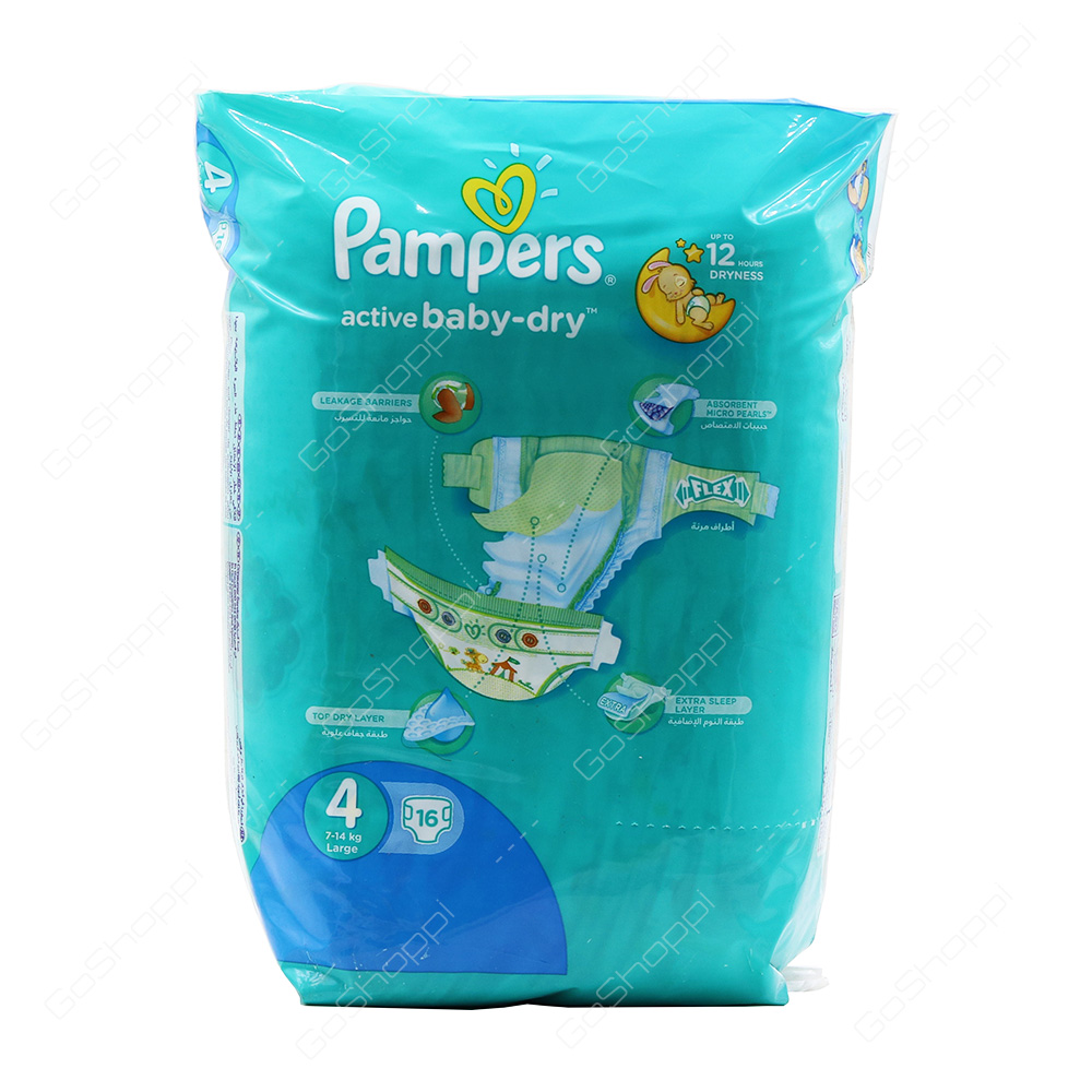 Pampers Active Baby Dry Diapers Size 4 16 Diapers