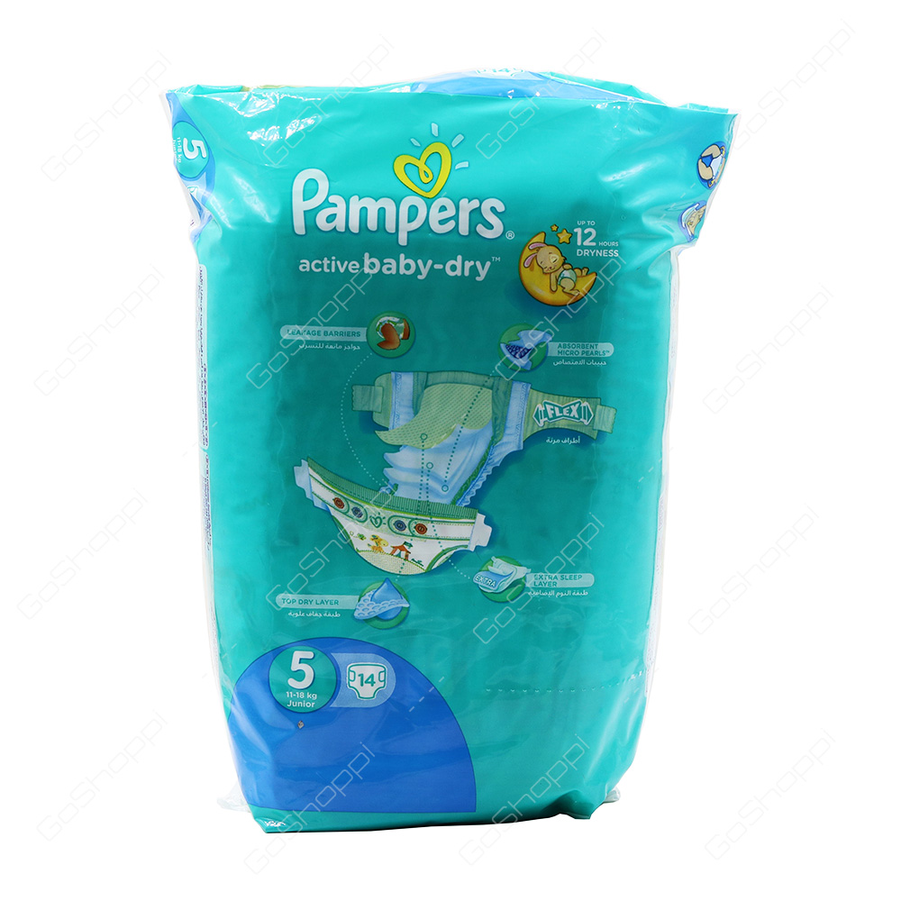 Pampers Active Baby Dry Diapers Size 5 14 Diapers