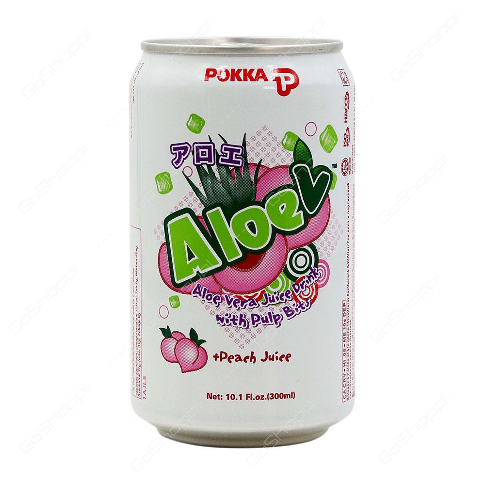 Pokka Aloe V Peach Juice 300 ml