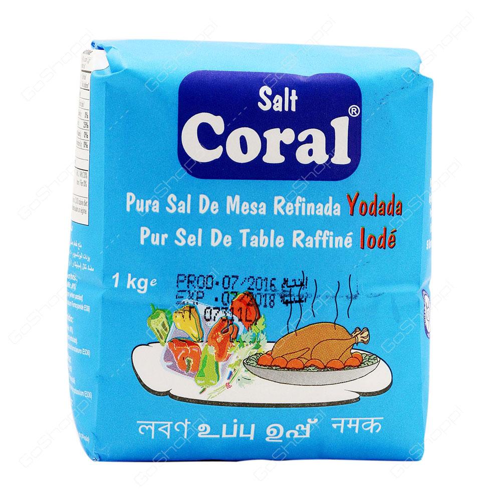 Coral Pure Refined Table Salt Iodized 1 kg