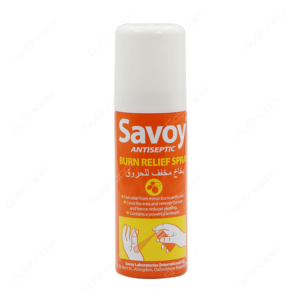 Savoy Antiseptic Burn Relief Spray 50 ml