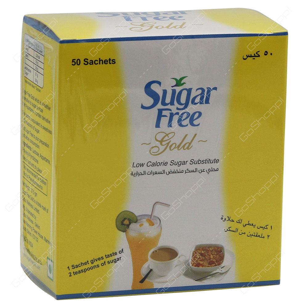 Sugar Free Gold Low Calorie Sugar Substitute 50 Sachets