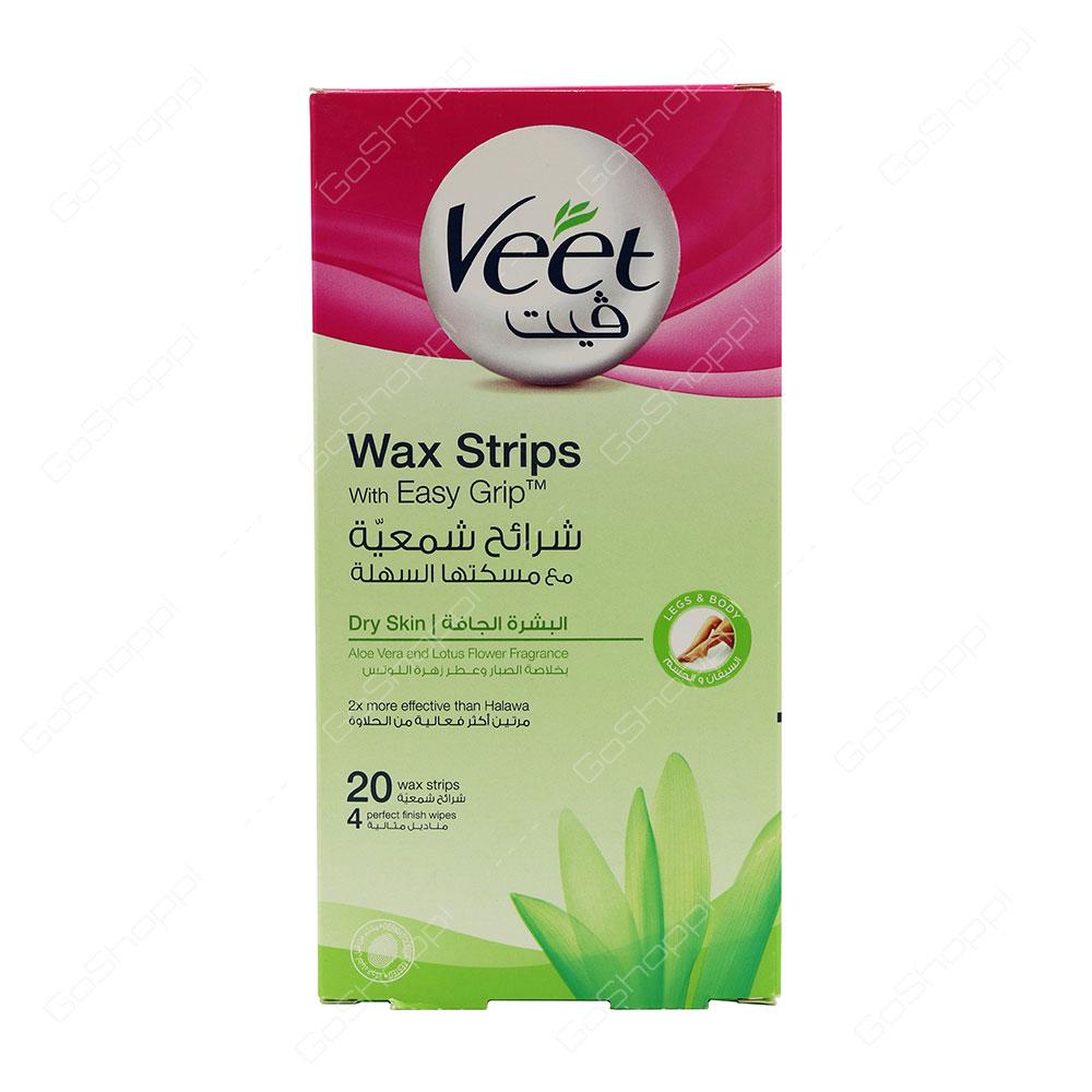 Veet Wax Strips Dry Skin 20 pcs