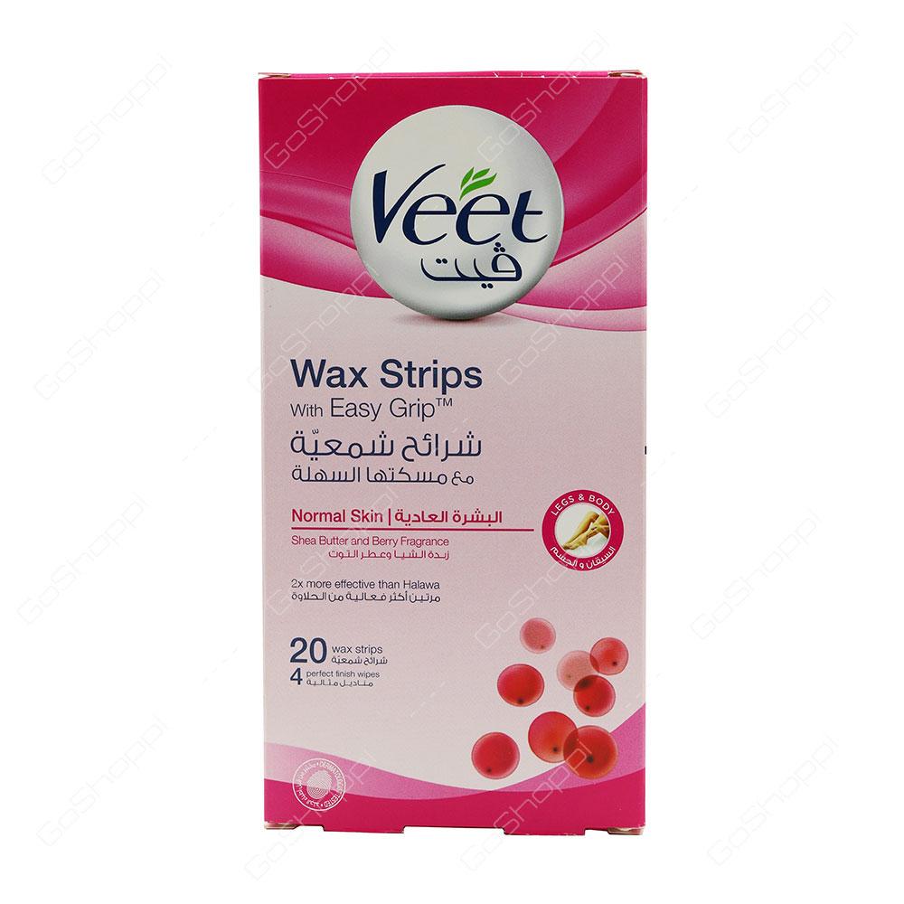 Veet Wax Strips Normal Skin 20 pcs