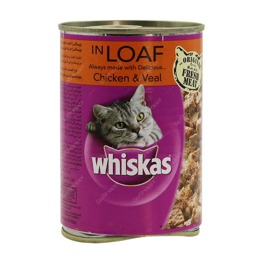 Whiskas In Loaf Chicken And Veal 400 g