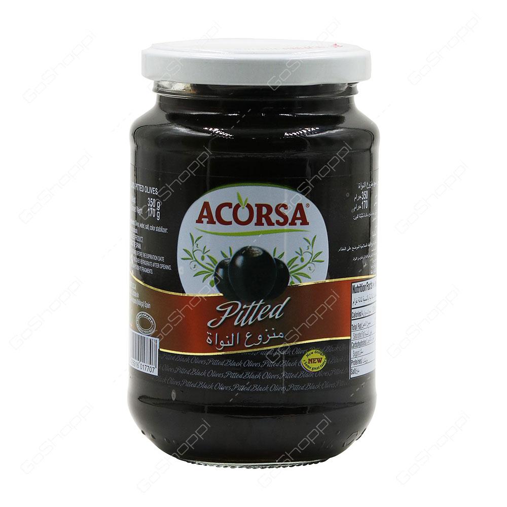 Acorsa Pitted Black Olives 350 g