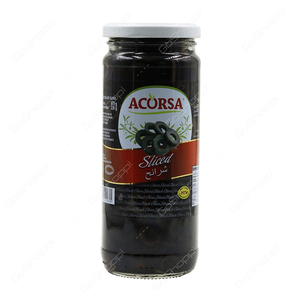 Acorsa Sliced Black Olives 470 g