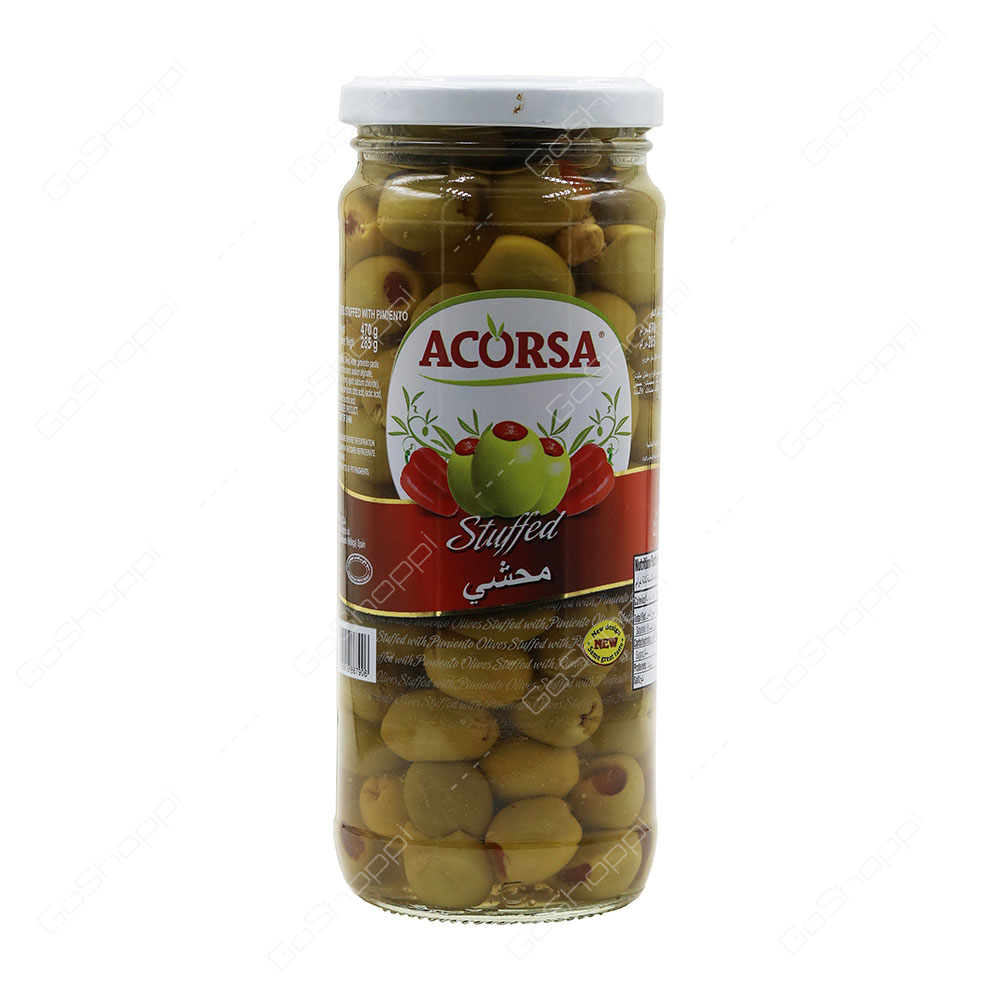Acorsa Stuffed Green Olives With Pimento 470 g