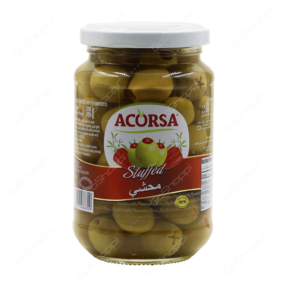 Acorsa Stuffed Green Olives With Pimento 350 g