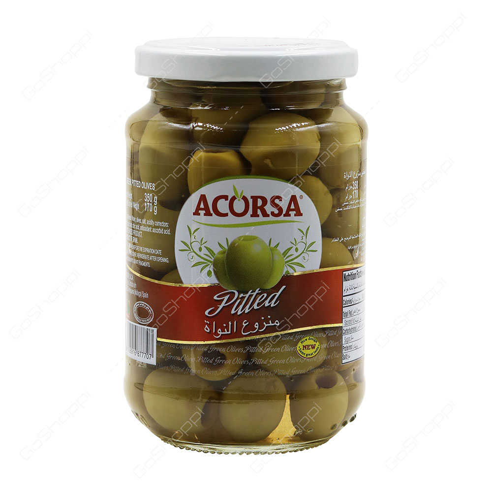 Acorsa Pitted Green Olives 350 g