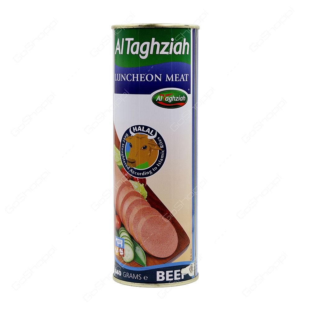 Al Taghziah Luncheon Meat Beef 840 g