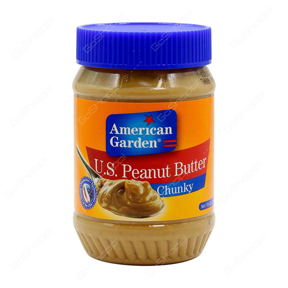 American Garden US Peanut Butter Chunky 510 g